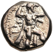 ⅓ Siglos - Baalmelek II – obverse
