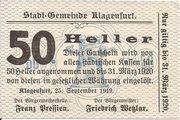 50 Heller (Klagenfurt) -  obverse