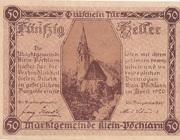 50 Heller (Klein-Pöchlarn) – obverse