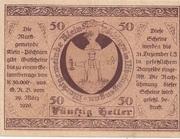 50 Heller (Klein-Pöchlarn) – reverse