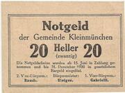 20 Heller (Kleinmünchen) -  reverse