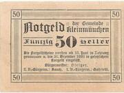 50 Heller (Kleinmünchen) -  reverse