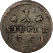 1 Stüber - Friedrich II – reverse
