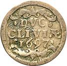 1 Duit - Friedrich III – reverse