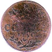 1 Duit - Friedrich II – reverse