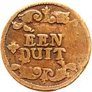 1 Duit - Friedrich III. – reverse