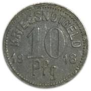 10 Pfennig - Königsee in Thüringen – reverse