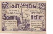 20 Heller (Königswiesen) -  obverse