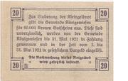 20 Heller (Königswiesen) -  reverse