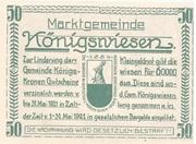 50 Heller (Königswiesen) -  reverse