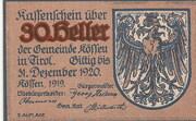 30 Heller (Kössen in Tirol) -  obverse