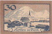 30 Heller (Kössen in Tirol) -  reverse