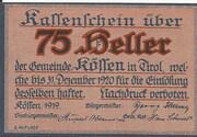 75 Heller (Kössen in Tirol) -  obverse