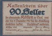 90 Heller (Kössen in Tirol) – obverse