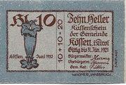 10 Heller (Kössen in Tirol) – reverse