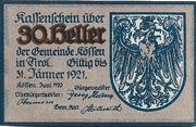 30 Heller (Kössen in Tirol) – obverse