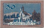30 Heller (Kössen in Tirol) – reverse