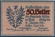 50 Heller (Kössen in Tirol) – obverse