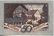 50 Heller (Kössen in Tirol) – reverse