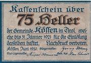 75 Heller (Kössen in Tirol) – obverse