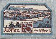 75 Heller (Kössen in Tirol) – reverse