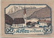 90 Heller (Kössen in Tirol) – reverse