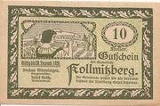 10 Heller (Kollmitzberg) – obverse
