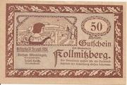 50 Heller (Kollmitzberg) – obverse