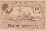 50 Heller (Kollmitzberg) – reverse
