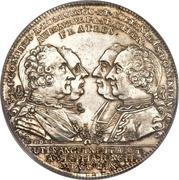 1 Thaler - Karl Ferdinand, Christian Moritz Eugen and Maximilian Friedrich – obverse