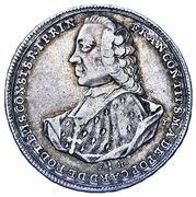 ¼ Thaler - Franz Konrad von Rodt – obverse