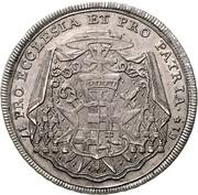 ½ Thaler - Franz Conrad von Rodt – reverse