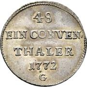 1/48 Thaler - Franz Conrad von Rodt (Conventionstaler) – reverse