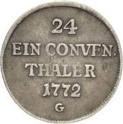 1/24 Thaler - Franz Conrad von Rodt (Conventionstaler) – reverse