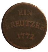 1 Kreuzer - Franz Konrad von Rodt – reverse