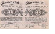 20 Heller (Korneuburg) – obverse