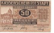 50 Heller (Korneuburg) – obverse