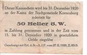 50 Heller (Korneuburg) -  reverse