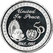 2 Dinars - Jaber III (United Nations) – reverse
