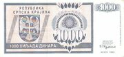 1000 Dinara – obverse