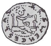 Denar - bishop krakowski Iwo Odrowąż (Kraków mint) – obverse