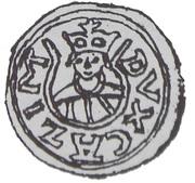 Brakteat - Kazimierz Sprawiedliwy (Kraków mint) – obverse