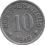 10 Pfennig - Crefeld – reverse