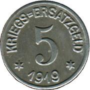 5 Pfennig - Crefeld – reverse