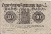 10 Heller (Krems) – obverse