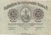 20 Heller (Krems) – obverse