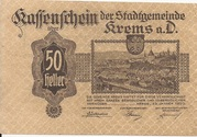 50 Heller (Krems) – obverse