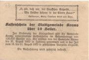 50 Heller (Krems) – reverse
