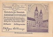 20 Heller (Kremsmünster (Land)) -  obverse