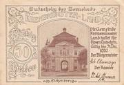 50 Heller (Kremsmünster (Land)) -  obverse